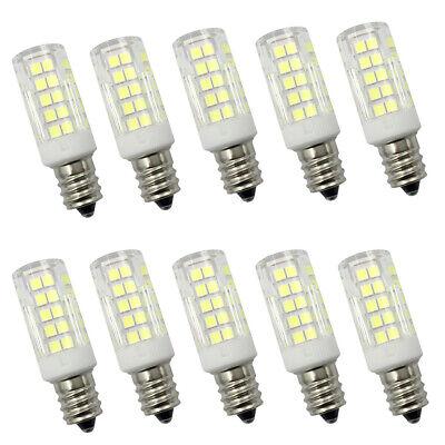 10pcs E12 Candelabra C7 64-2835 LED Lights Bulb AC//DC 12V Light Ceramics Lamp