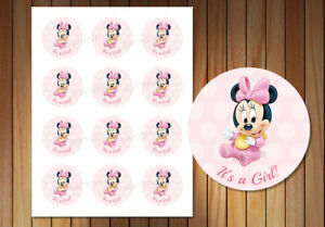 minnie mouse thank you stickers printable party birthday favors