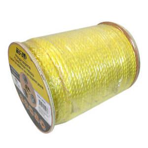 DuraDrive Polypropylene 3-Strand Twist 3/8 in. Yellow Rope 630 ft