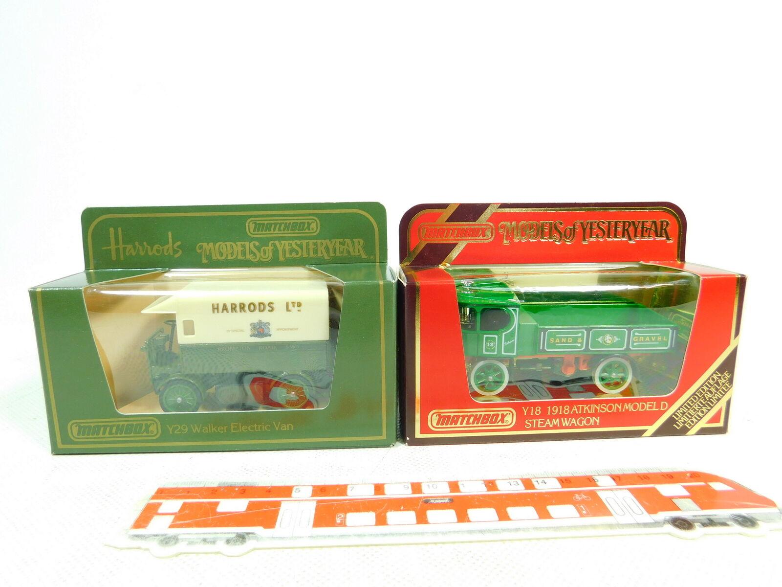 BT436-0,5x Matchbox Modell  Y29 Walker Harrods + Y-18 Atkinson, NEUW+OVP