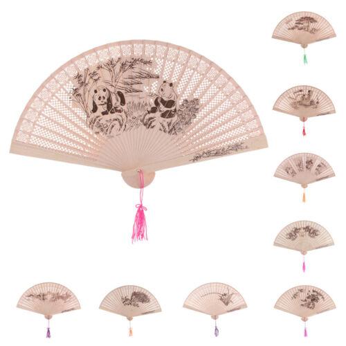 Vintage Hand Fan chinesischen Sandelholz hohlen Faltfächer exquisite