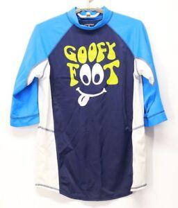 1e67654a13 Kid's Land's End 3/4 Sleeve Rash Guard Swim Top Shirt Blue White ...