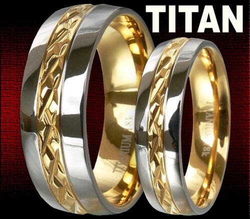 TITAN RINGE 6//8mm EHERINGE TRAURINGE PARTNERRINGE HOCHZEITSRINGE VERLOBUNGSRINGE