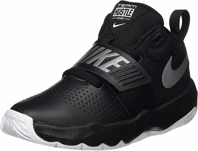 amenaza oración preocuparse  Nike Team Hustle D 8 Little Kids 881942-001 Black Silver Shoes Youth Size 3  for sale online | eBay