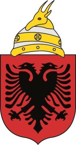 Autocollant Albanie Armoiries des autocollants 16 x 30 cm Autocollant Contour De Coupe