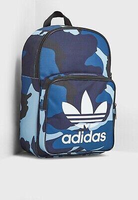 Adidas Originals Classic Backpack Gym Bag Blue Camo Sports School Mens Boys BNWT   eBay