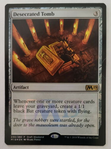 R MTG X1: Desecrated Tomb **FOIL** NM-Mint Magic 2019 Draft Weekend PROMO
