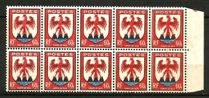 France-1946-Bloc-de-10-YT-n-758-Neuf-luxe-MNH
