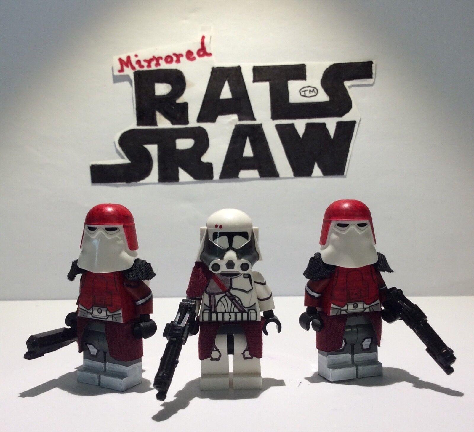 Lego Star Wars minifigures - Clone Custom - Comdr Bacara + x2 Galactic marines