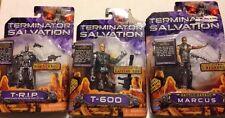 Terminator Salvation Action Figure Lot Marcus T-600 T-R.I.P. Damaged Cards 2009