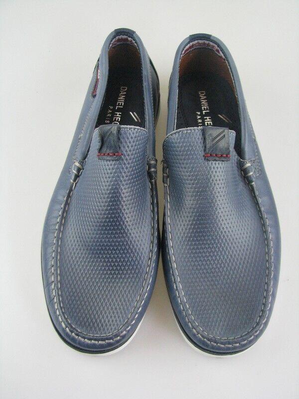 Daniel Hechter 821-13360 Uomo Slipper in blu in pelle tg. 42