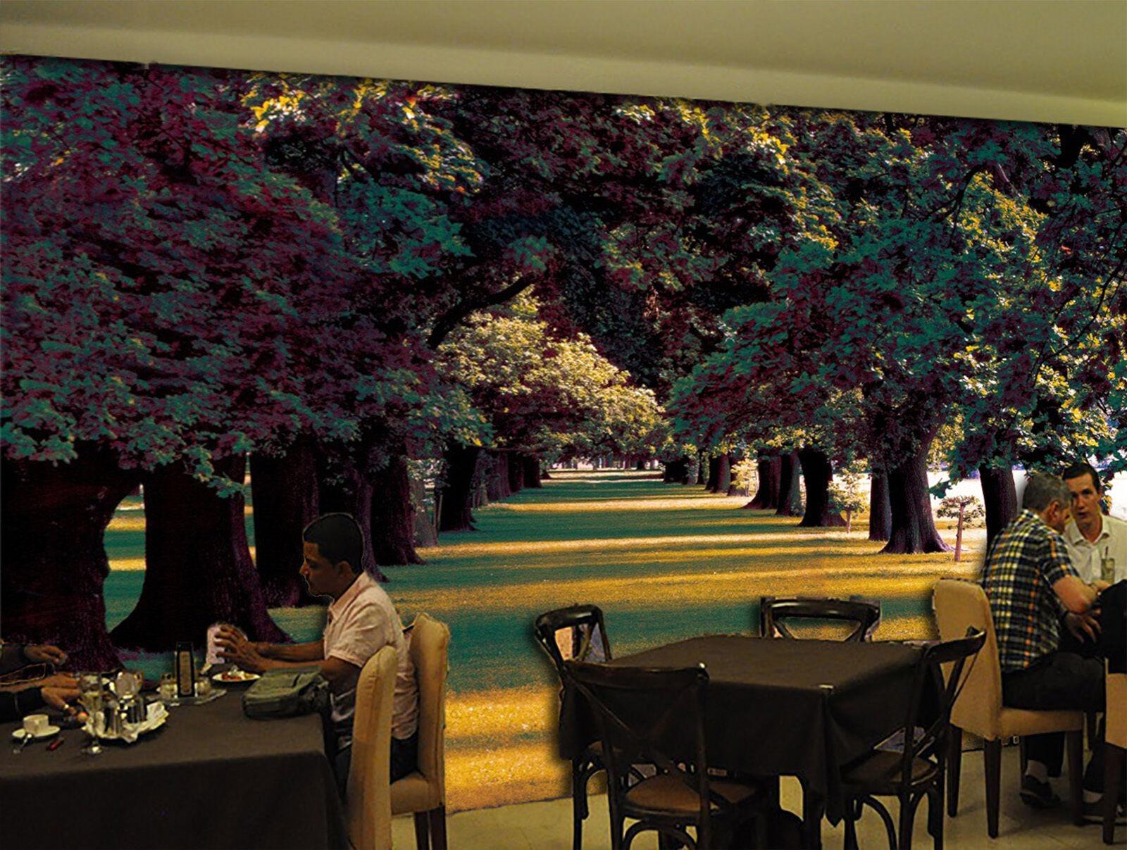 3D Trees Shade 704 Wall Paper Wall Print Decal Wall Deco Indoor AJ Wall Paper