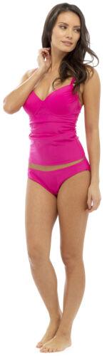 Ladies Control Tankini Swimsuit Costume Set V Neck Tummy Slimming Body Shaper