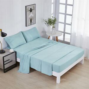 HIG-4-Piece-Solid-Sheet-Set-Hotel-Luxury-Extra-Soft-Deep-Pocket-Bed-Sheets-Set