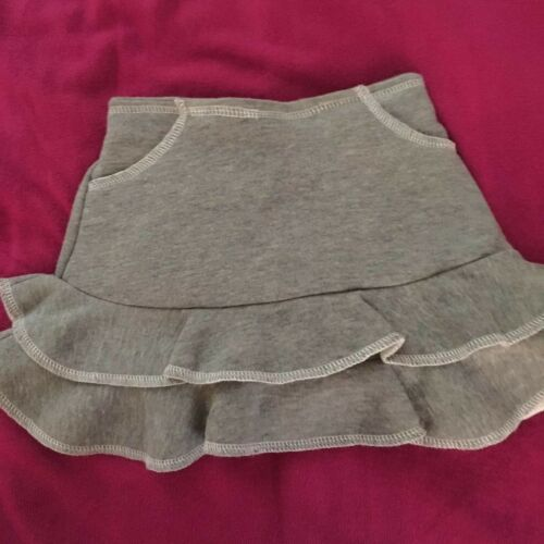 Details about  /NOS Gray Sweatshirt Material Skirt Ruffled Bottom and Matching Panties//Shorts