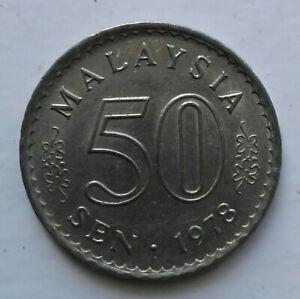 Parliament Series 50 sen coin 1978