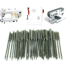 20Pc Flat Round Domestic Home Sewing Machine Needles for Brother Janome Singer