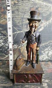 Antique-Cast-Iron-Uncle-Sam-Mechanical-Bank-Shepard-Hardware-Pat-June-8-1886
