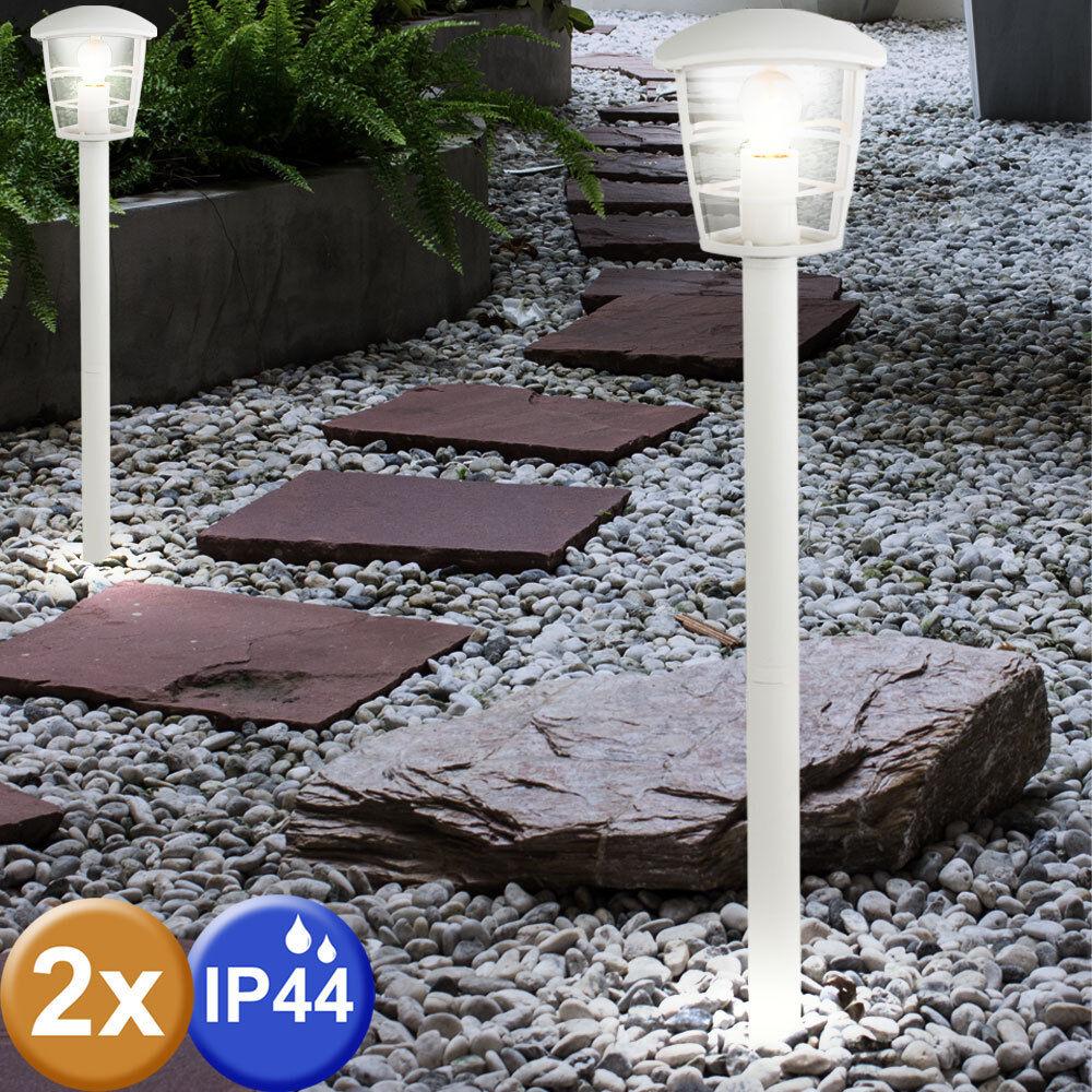 2er set linternas exterior stand lámparas Alu pie jardín iluminación porche luminarias