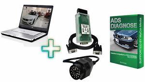 ADS Diagnose Interface für BMW mit Siemens Fujitsu Lifebook E8410 und Software