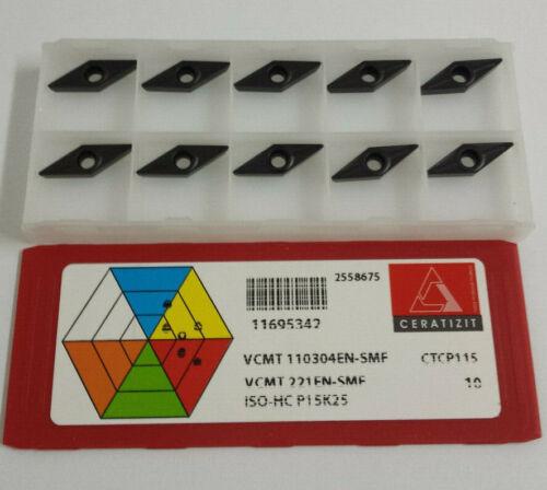 carbide inserts VCMT 110304EN-SMF CTCP115 CERATIZIT NEW-10pcs.