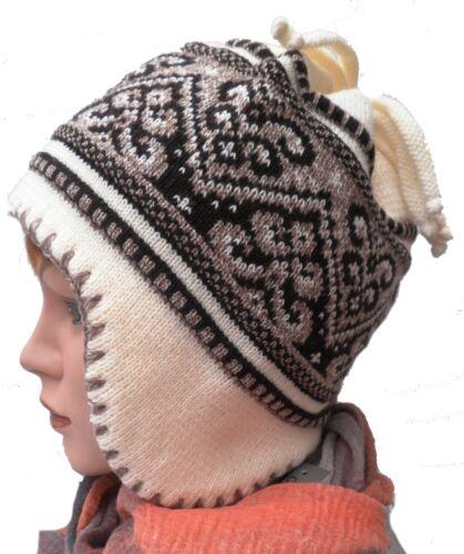 Damenmütze Norwegermütze Strickmütze gefüttert Winter Wintermützen Damenmützen