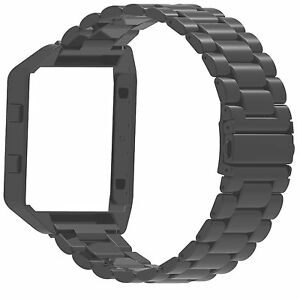 Genuine-Stainless-Steel-Strap-Watch-Band-With-Frame-For-Fitbit-Blaze-Smart-Watch