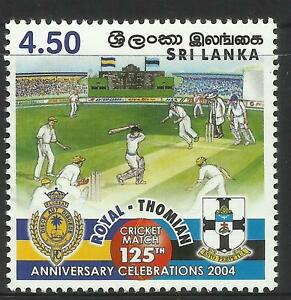 SRI LANKA 2004 CRICKET ROYAL THOMIAN 125th ANNIVERSARY 1v MNH