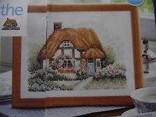 WHERE THE HEART IS A PERFECT SCENE OF A COUNTRY COTTAGE CROSS STITCH CHART