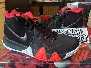 quality design d4352 608a9 Nike Kyrie 4 IV 41 For The Ages Black Crimson Red Grey Basketball ...