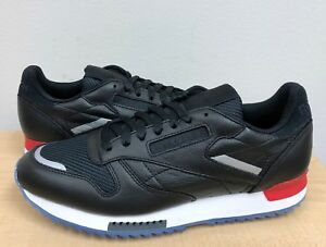 1ca560572d91d MENS REEBOK CLASSIC LEATHER RIPPLE LOW BP Black White Red Dust-Ice ...