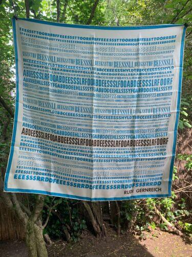 ********1960s Rudi Gernreich Silk FONT Blue & Brow
