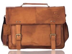Details About Mens Leather Laptop Bag Designer Las Shoulder Cross Body Work Messenger Case