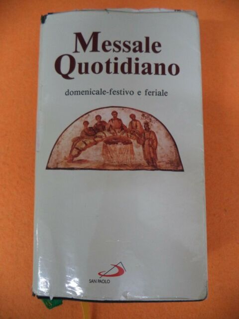 Book Libro MESSALE QUOTIDIANO domenicale-festivo e feriale 1995 SAN PAOLO (L19)