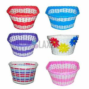 Girls Bicycle Basket Flower Shopping Childs Childrens Kids