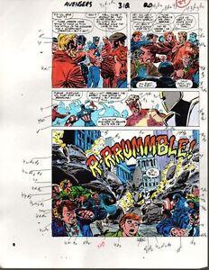 1989-Avengers-312-page-27-Marvel-Comics-color-guide-art-1980-039-s-Captain-America