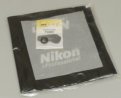 (prl) Nikon Nps Pro Raincover Protection Camera Lens Telo Protezione Pioggia New