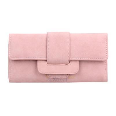 Women Lady Long PU Leather Trifold Card Wallet Clutch Checkbook Purse Handbag