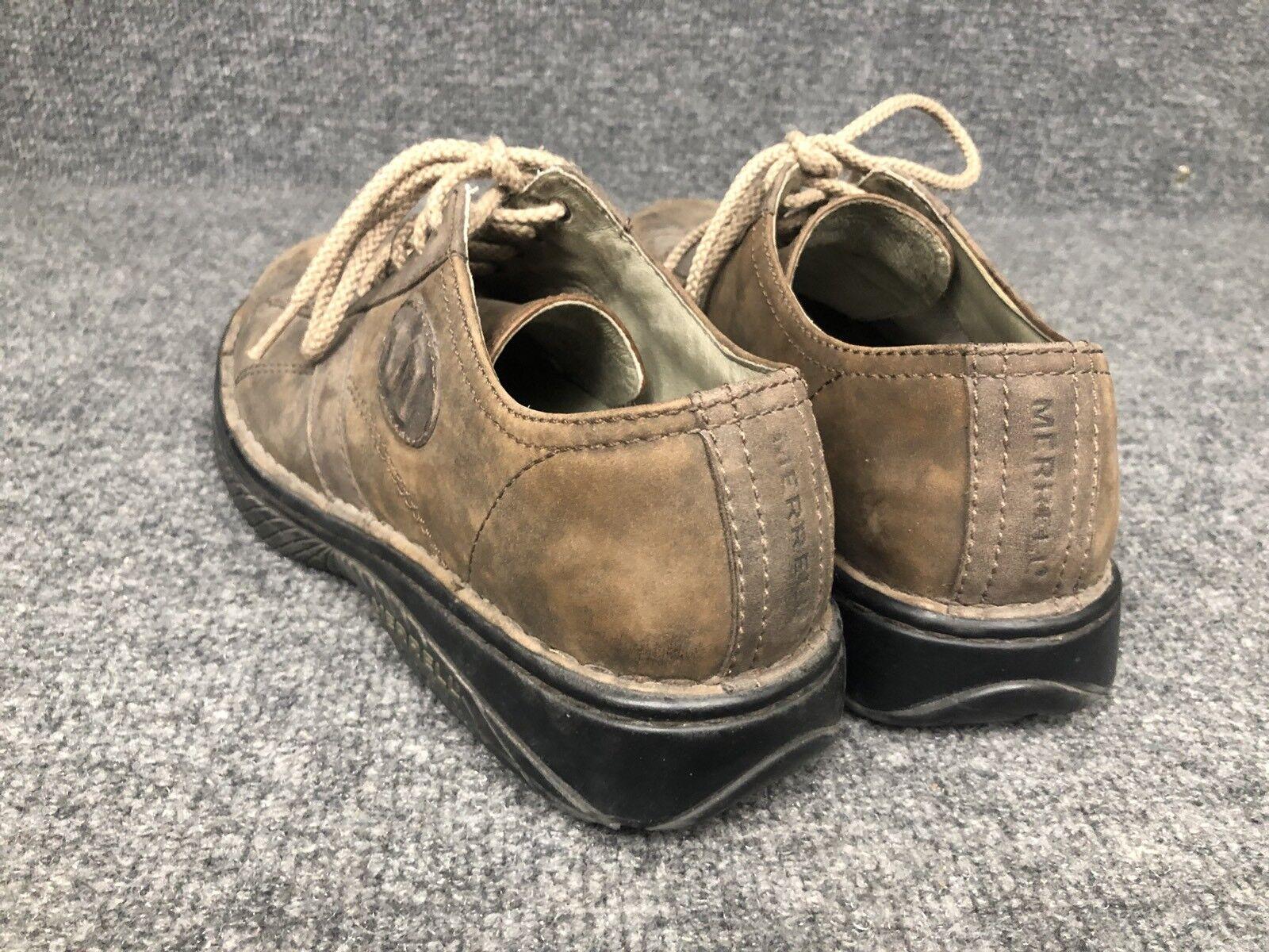 Merrell  Uomo Sz 8 Dappled Chocolate Braun In Leder Casual Oxfords Schuhes In Braun EUC 69b6b4