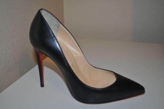 779ed95957a Christian Louboutin So Kate Pointy Toe 120 Pump Shoe Black Leather 36 EU  5.5 US