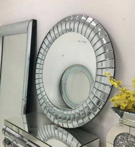 Special Price Large Brand New Stunning Round Crystal bevelled wall Mirror