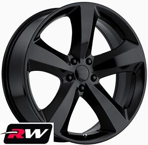 Details About Dodge Charger Wheels 20 Inch 20x8 Challenger R T Replica Black Rims Fit Charger