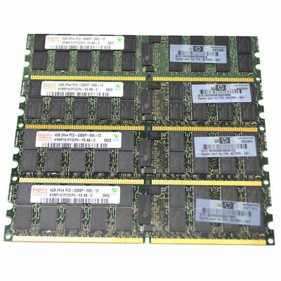 Memoria Ram Per Server Ddr2 Pc2 667 Mhz 240 Pin 5300p Rdimm Ecc Reg 2x Job Lot-