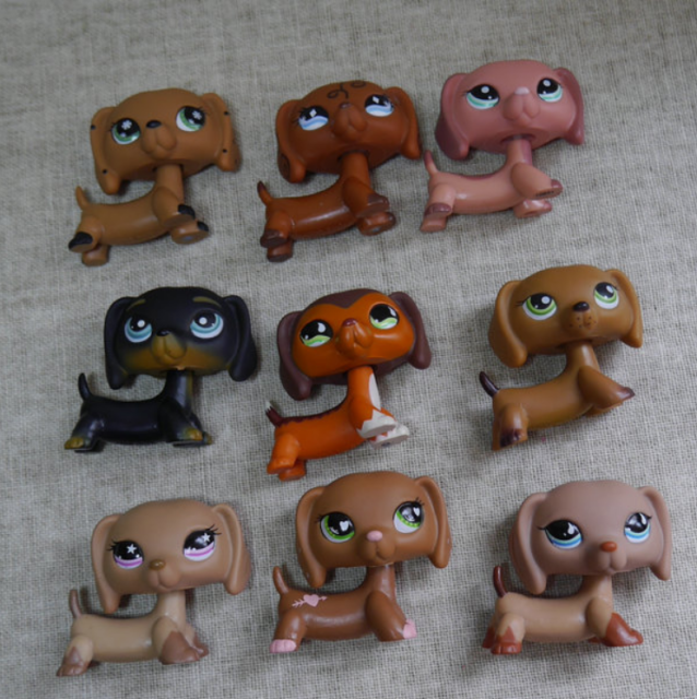 Littlest Pet Shop Dachshund series pubby Dog lps 1 pcs random choice