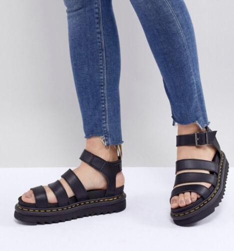 Dr. Martens Platform Sandals Blaire Black Hydro, W