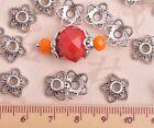 6~16mm Tibetan Silver Metal Flowers Loose Spacer Beads Caps Jewelry Findings
