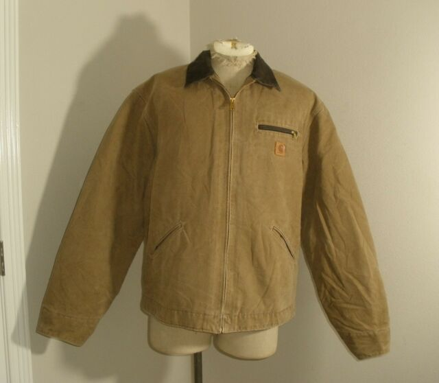 CARHARTT J97 FRB BLANKET LINED  SANDSTONE Duck DETROIT Jacket XLT XL TALL