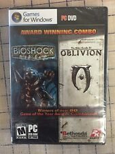 BIOSHOCK & ELDER SCROLLS OBLIVION BUNDLE PC DVD * RARE BRAND NEW SEALED *