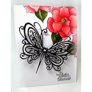 Stanzschablone-Schmetterling-Hochzeit-Weihnachten-Geburtstag-Oster-Karte-Album