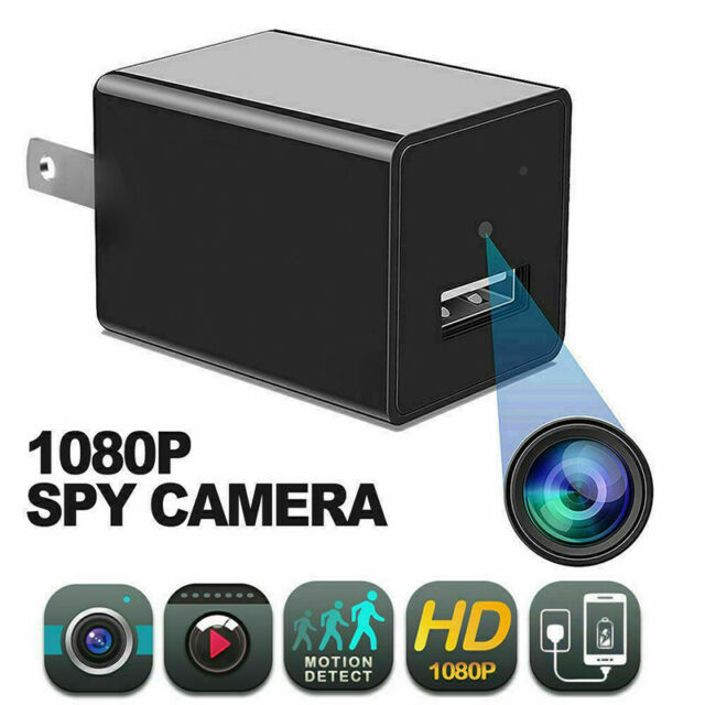 Wifi HD 1080P Spy Hidden Wall Charger Adapter IP Camera DVR Video Recorder Cam @